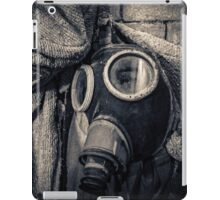 protective suit with gas mask iPad Case/Skin