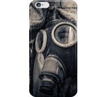 protective suit with gas mask iPhone Case/Skin