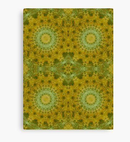 Outdoor pillows-Retro Granny square- mustard seed Canvas Print