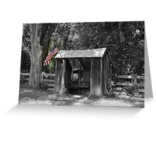 Shelter with Flag Greeting Card