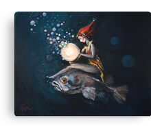 queen pearl saver  Canvas Print