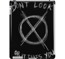 Slenderman Logo T-shirt version 1. (black iPad Case/Skin