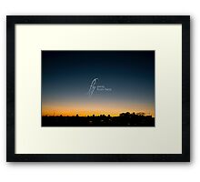 Fly away from here Framed Print