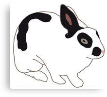 Black White Bunny Rabbit Canvas Print