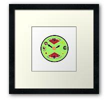 Green Food Clock Framed Print
