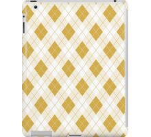 Spicy Mustard Yellow and White Argyle Check Plaid iPad Case/Skin