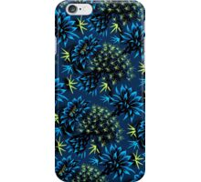 Cactus Floral - Blue/Black/Green iPhone Case/Skin