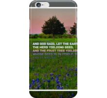 Genesis 1:11 iPhone Case/Skin