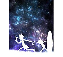 Rick and Morty galaxy Photographic Print