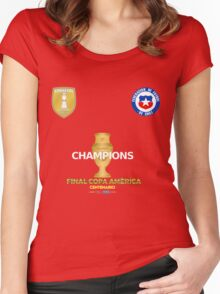 Final Copa America 2016 Champions - Chile Football Team Women's Fitted Scoop T-Shirt