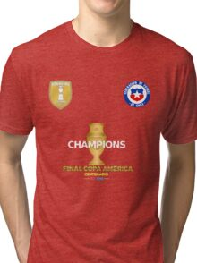 Final Copa America 2016 Champions - Chile Football Team Tri-blend T-Shirt