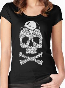 Pokemon Skull Women's Fitted Scoop T-Shirt