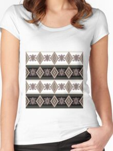 Ethnic folk patterns. Women's Fitted Scoop T-Shirt