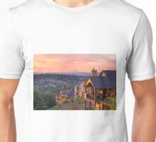 Sunset View from Deck of Luxury Homes Unisex T-Shirt