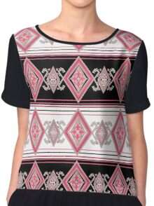ethnic folk patterns. Chiffon Top