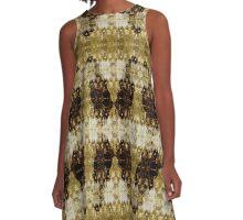 Decorative Pillow - Golden Butterfly A-Line Dress