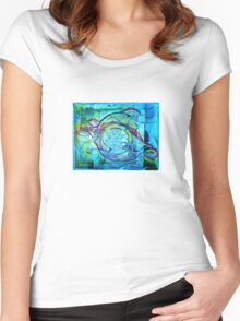 Blue Seaweed Women's Fitted Scoop T-Shirt
