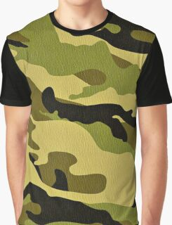 Fashion Green Camouflage Graphic T-Shirt