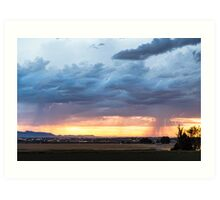 Fort Collins Colorado Sunset Lightning Storm Art Print