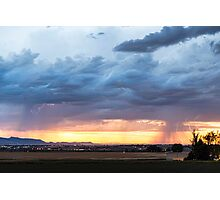 Fort Collins Colorado Sunset Lightning Storm Photographic Print