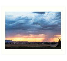 Larimer County Colorado Sunset Thunderstorm Art Print