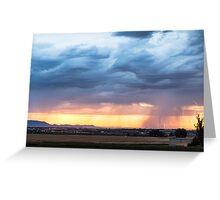Larimer County Colorado Sunset Thunderstorm Greeting Card