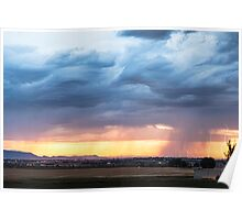 Larimer County Colorado Sunset Thunderstorm Poster