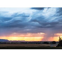 Larimer County Colorado Sunset Thunderstorm Photographic Print