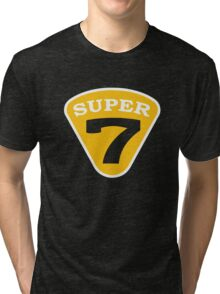 SUPER 7 Badge Cutout Number Tri-blend T-Shirt