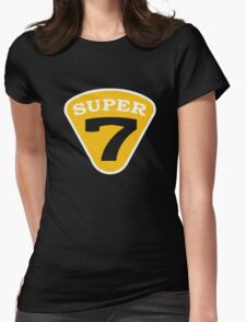 SUPER 7 Badge Cutout Number Womens Fitted T-Shirt