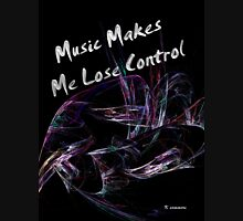 Music Makes Me Lose Control Womens Fitted T-Shirt