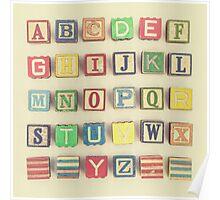Vintage Alphabet Poster