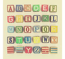 Vintage Alphabet Photographic Print