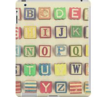 Vintage Alphabet iPad Case/Skin
