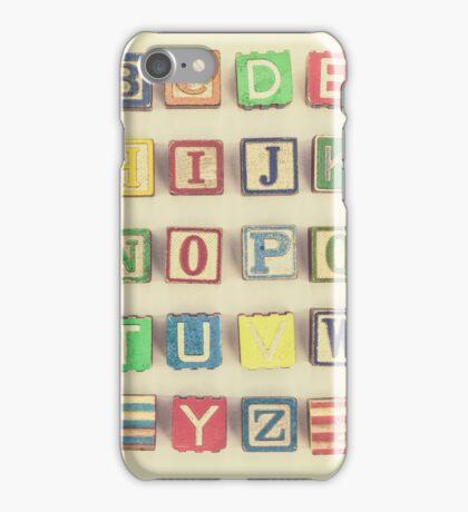 Vintage Alphabet iPhone Case/Skin
