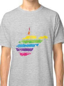 west virginia color strokes Classic T-Shirt