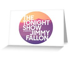 Sunset Jimmy Fallon Greeting Card