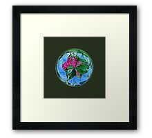 Maid in the mist in the globe Framed Print