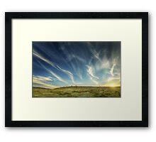 Dusk, Bogong high plains Framed Print