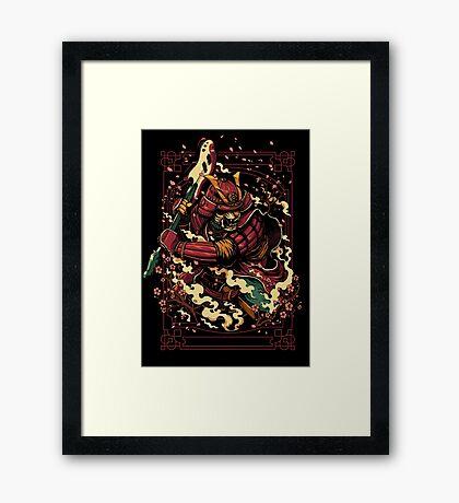 Shogun's Fury Framed Print