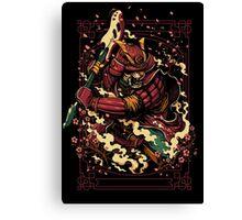 Shogun's Fury Canvas Print