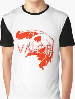 Stylized Team Valor Print Graphic T-Shirt
