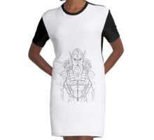 Raider Sketch Graphic T-Shirt Dress