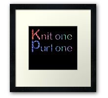 Knit one purl one Framed Print