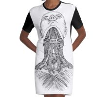 Músculos suprahioideos e infrahioideos Graphic T-Shirt Dress