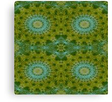 High blue Retro Granny circle  Canvas Print