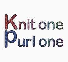 Knit one purl one by Trish Peach