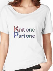 Knit one purl one Women's Relaxed Fit T-Shirt