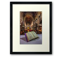 From The Hymn Book Framed Print