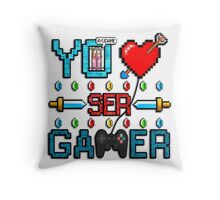 Yo Amo ser Gamer Throw Pillow